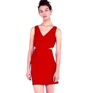 Express Cutout Red Mini Dress